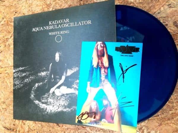 Kadavar Aqua Nebula Oscillator split LP cover